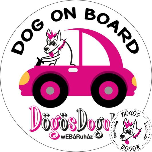 Dog On Board Matrica